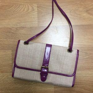 Handbags - Straw messenger purse